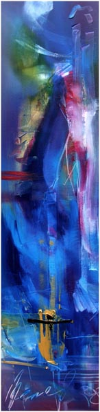 Buddha's Hand/Oh Superman, 2008, oil on canvas, 122 X 31 cm with expressive signature