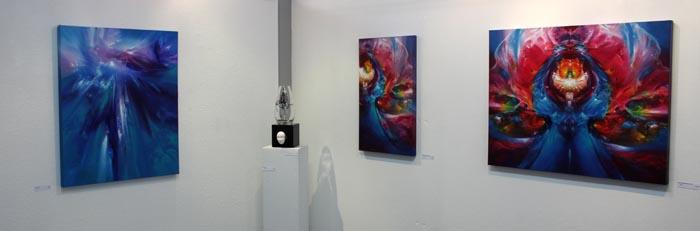 Digital Legends, exhibition setup