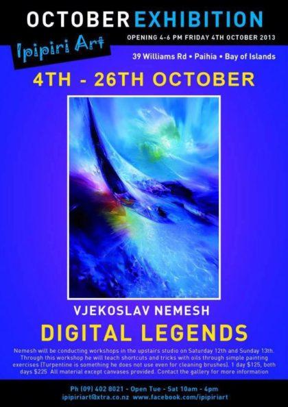 Digital Legends, exhibition poster