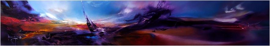 Vjekoslav Nemesh, AGAINST THE STORM, 2008, oil on canvas, 20 X 122 cm