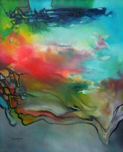 Vjekoslav Nemesh, CRYING TIME,1990, oil on canvas, 75 X 50 cm