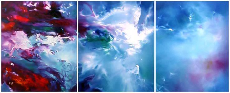 Vjekoslav Nemesh FREEDOM triptuch oil on canvas three panels each 110 X 91 cm