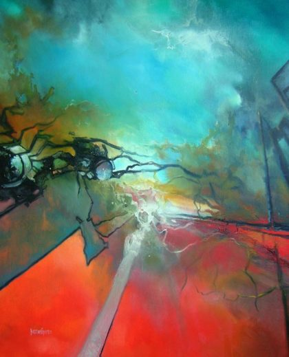 vjekoslav-nemesh-la-petite-fille-de-la-mer-1990-oil-on-canvas-95-x-75