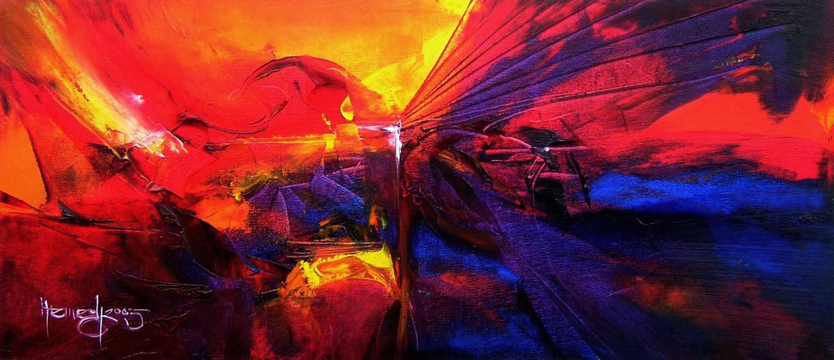 Vjekoslav Nemesh PASSIONATE SOUL oil on canvas 40 X 20 cm