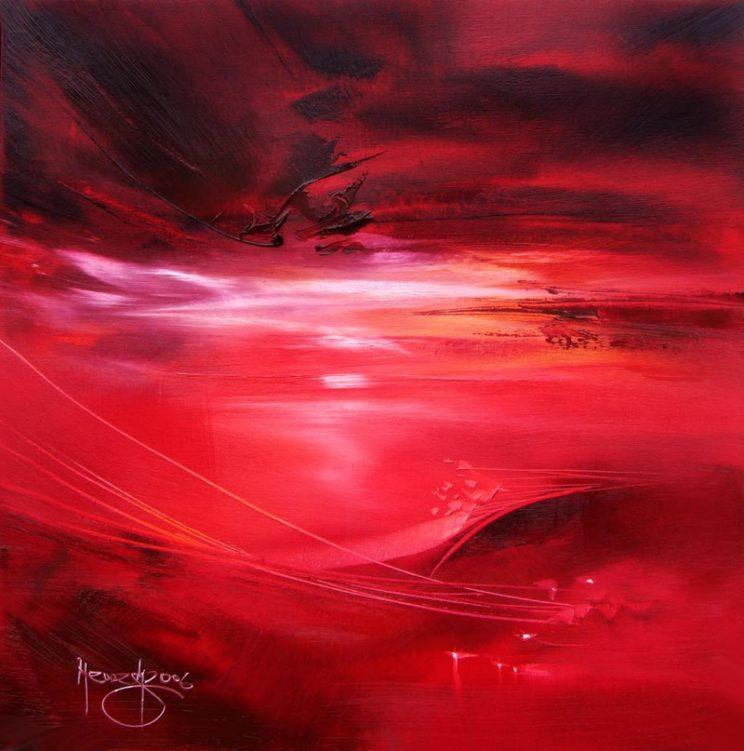 Vjekoslav Nemesh, RED PEACE, 2006, oil on canvas, 50 X 50 cm