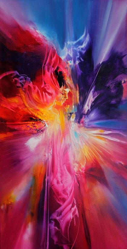 Vjekoslav Nemesh SOLEI SOLEI 2014 oil on canvas 100 X 50 cm