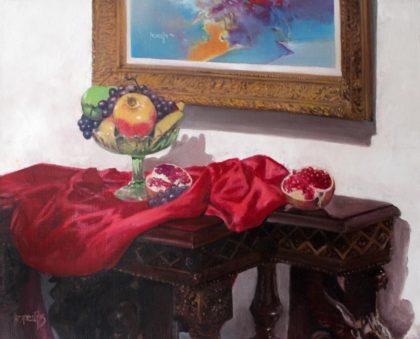 Vjekoslav Nemesh, STILL LIFE IN THE STUDIO, 42 x 52 cm, from 1993, oil on canvas