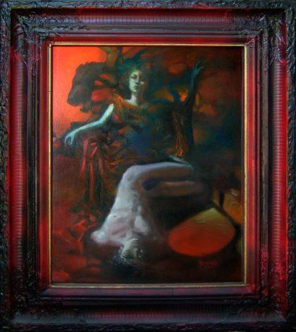 THRONE, 1998, oil on canvas, 65 X 50 cm, framed