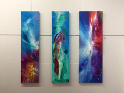 From left: Vjekoslav Nemesh, Wikitoria Smith and Tiffany Nightingale's piece