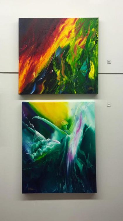 Kirsty Peter's Tempest (on the top) and Flying High