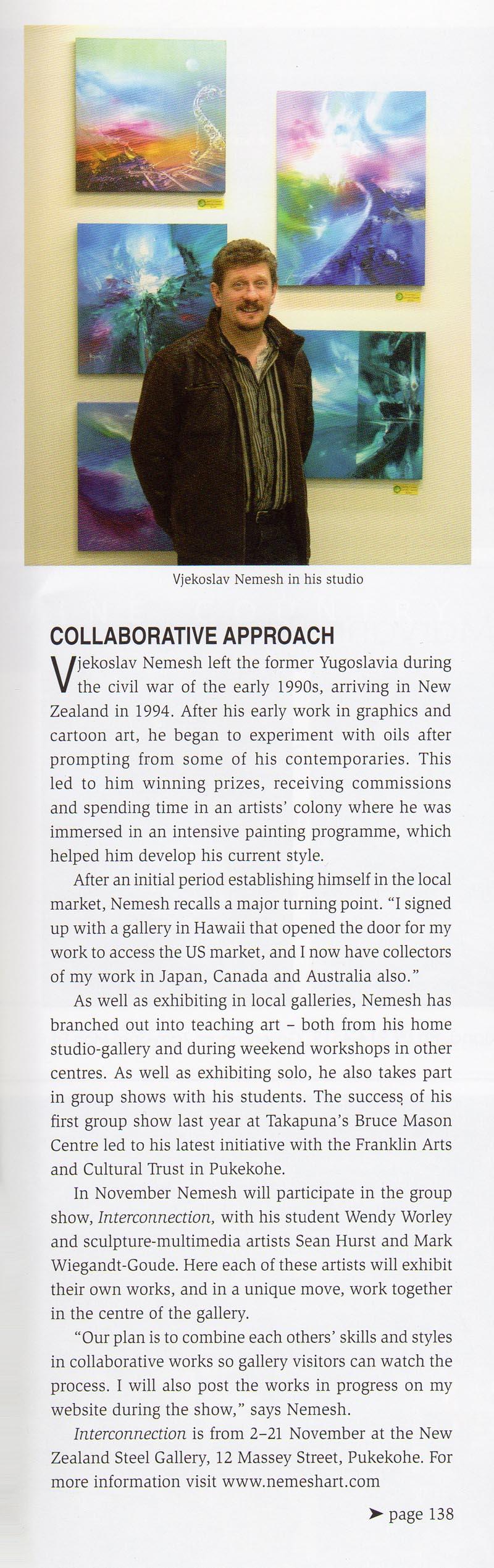 Art News Article 2007