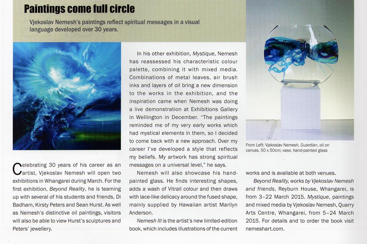 Art News Article 2015 Mistique