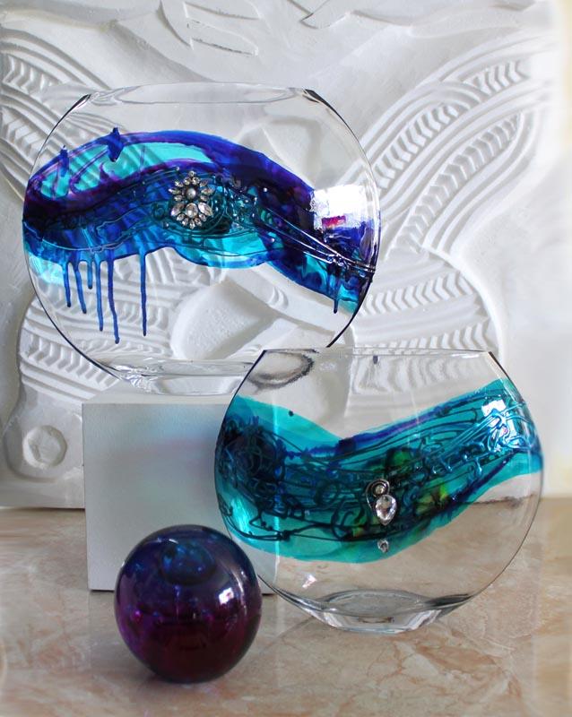 Nemesh hand painted glass
