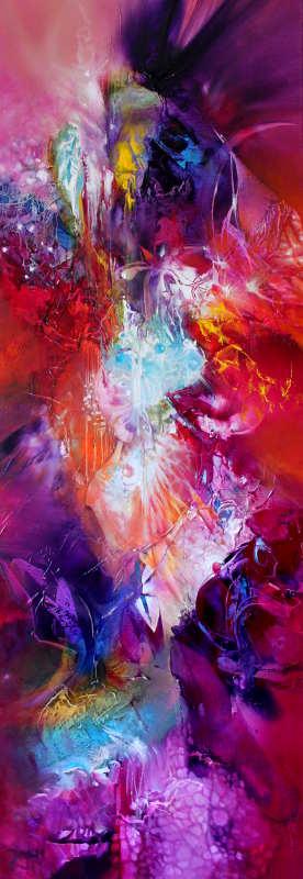 GOOD NEWS, oil on canvas, 122 X 40 cm