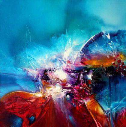 LIKE MYFLY, oil on canvas, 50 X 50 cm