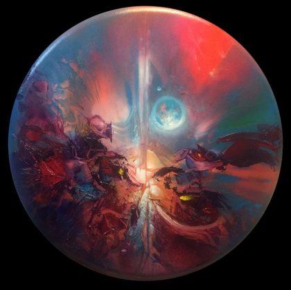 MAGIC MOON, oil on canvas, 70 cm diameter