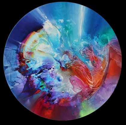 PEARLS IN HEAVEN, oil on canvas, 70 cm diameter