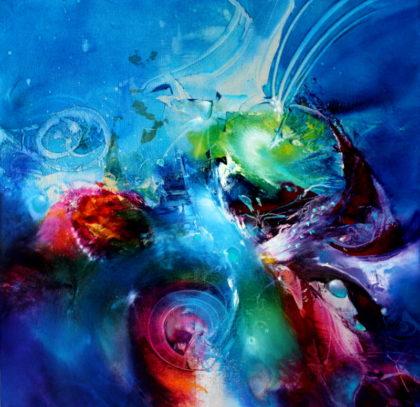 STARLIGHT ROMANCE, oil on canvas, 50 X 50 cm