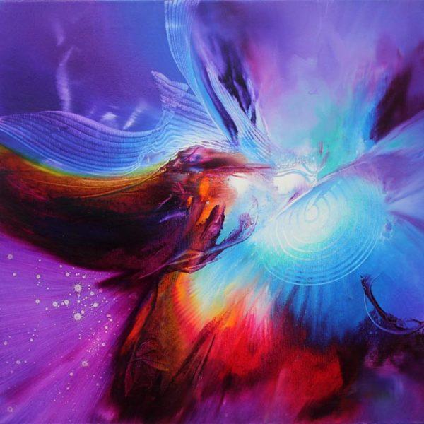BIRD SONATA oil on canvas 50 X 50 cm