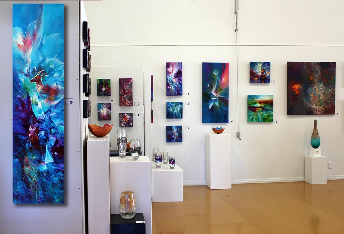 Creative Arts Napier, exhibition setup