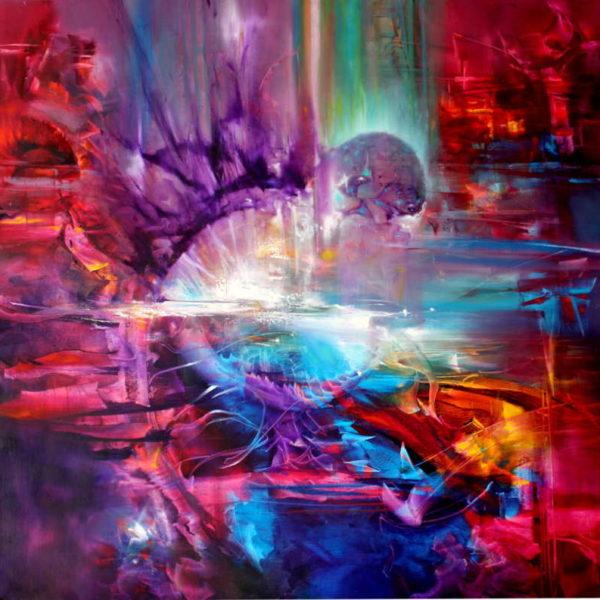 Vjekoslav Nemesh ASTR0 oil on canvas 100 X 100 cm