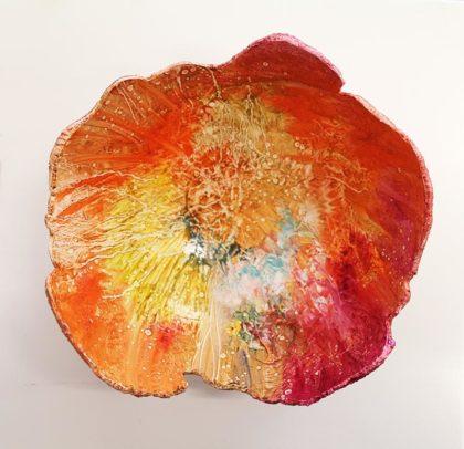 BARSOOM, oil on concrete orb, 23 cm diameter