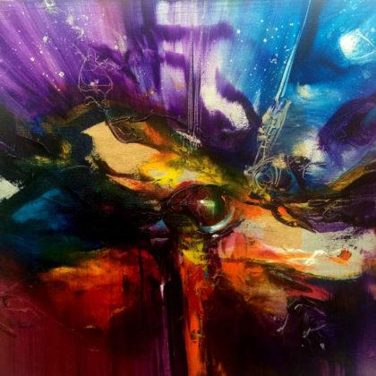 BEAUTY IS IN THE EYE OF BEHOLDER, oil on canvas, 50 X 50 cm