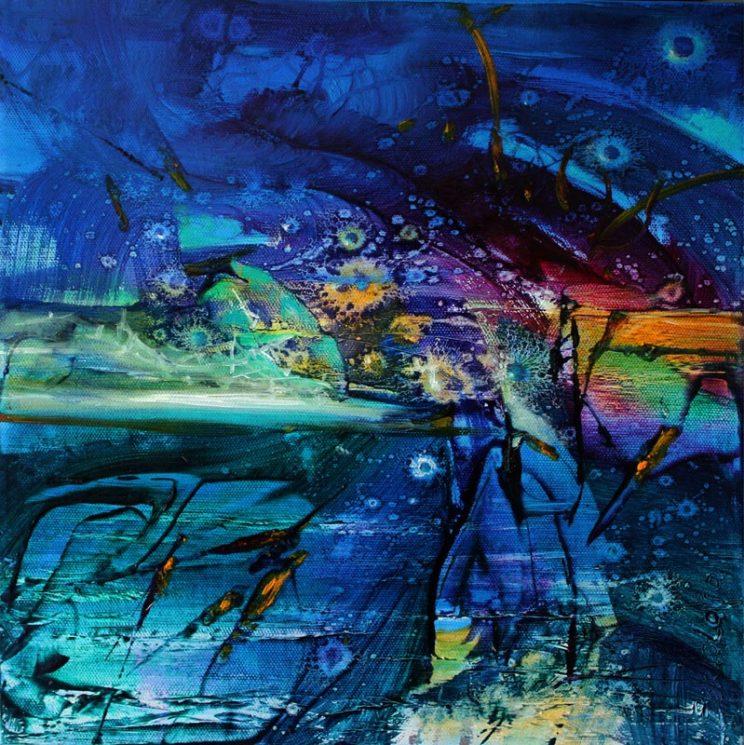 Vjekoslav Nemesh, BEYOND HERE LIES NOTHIN', oil on canvas, 30 X 30 cm