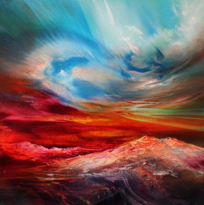 Vjekoslav Nemesh CALLING MOUNTAINS oil on canvas 38 X 38 cm
