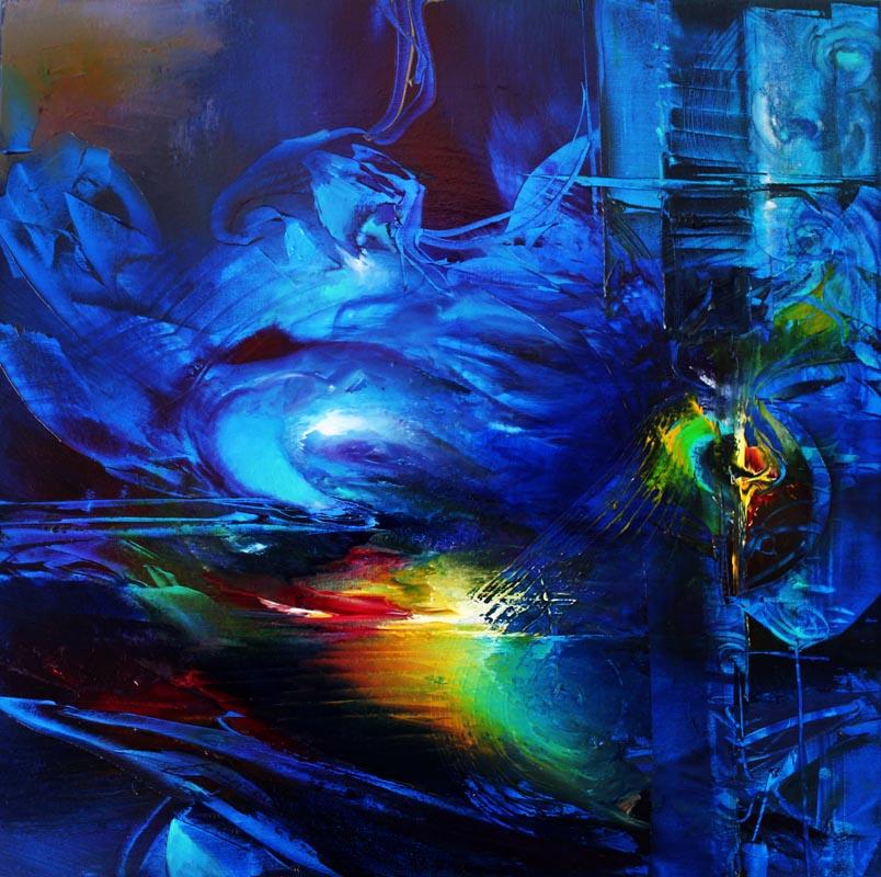 Vjekoslav Nemesh INTO THE MYSTIC oil on canvas 50 X 50 cm