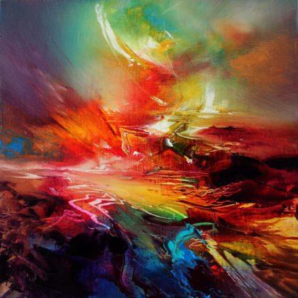 Vjekoslav Nemesh INTO THE VALEY oil on canvas 29 X 29 cm