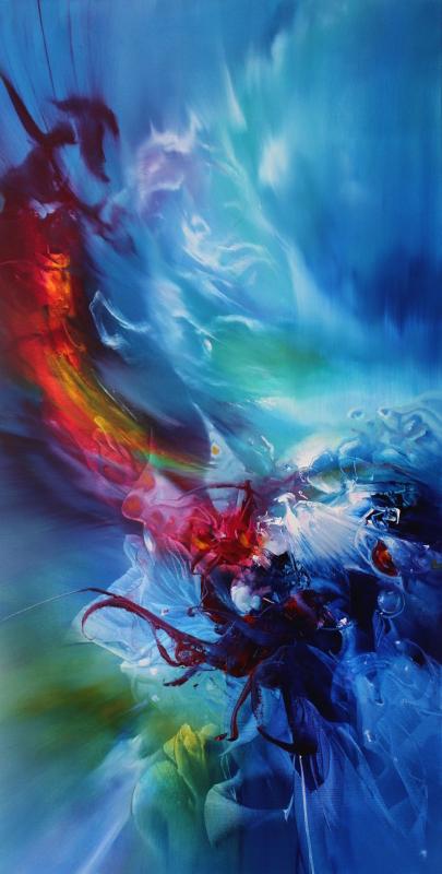 IT'S ME ALICE, oil on canvas, 101 X 51 cm