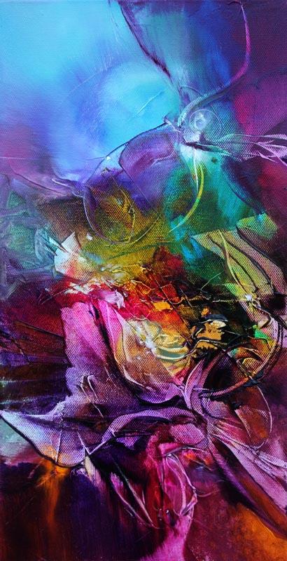 Vjekoslav Nemesh, MAGIC MOMENTS I, oil on canvas, 46 X 20 cm