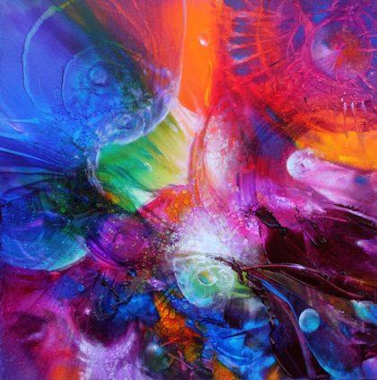 Vjekoslav Nemesh. MAGIC SEED, oil on canvas, 30 X 30 cm