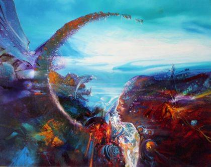 MOANA, oil on canvas, 35 X 44 cm