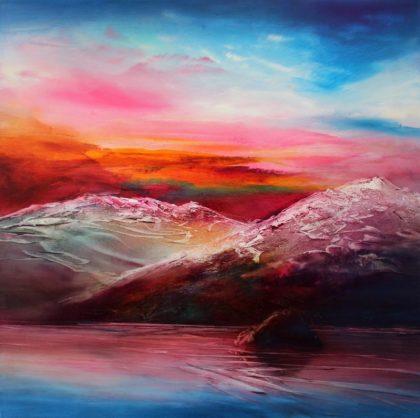 Vjekoslav Nemesh SOUTHERN DAWN oil on canvas 50 X 50 cm