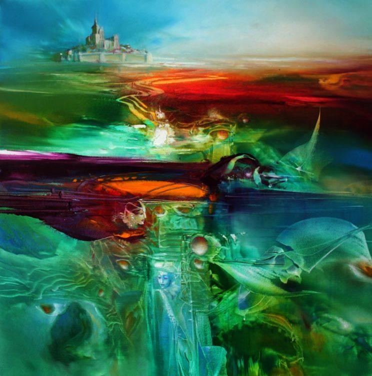 Vjekoslav Nemesh, TEMPLE WITHIN, oil on canvas, 50 X 50 cm.jpg