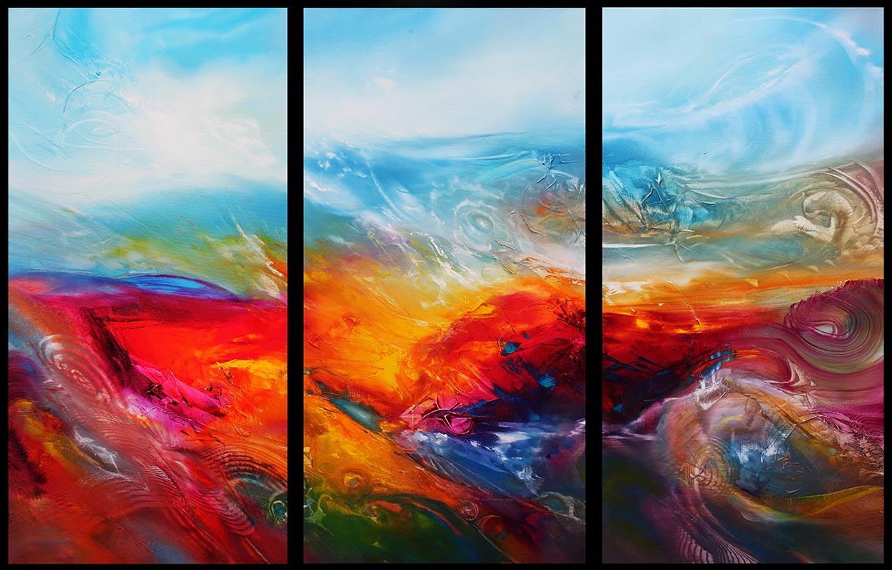 TERRA FORMA 3018, triptych, oil on canvas, 102 X 153 cm