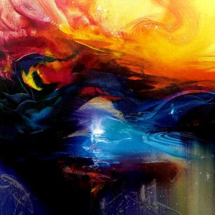 WET DREAMS, oil on canvas, 50 X 50 cm