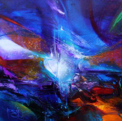 Vjekoslav Nemesh, WHEN YOUR HART SING, oil on canvas, 40 X 40 cm