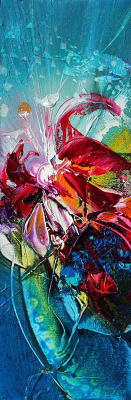 WILD ORCHIDS FROM ANOTHER DIMENSION oil on canvas, 30 X 4 cm