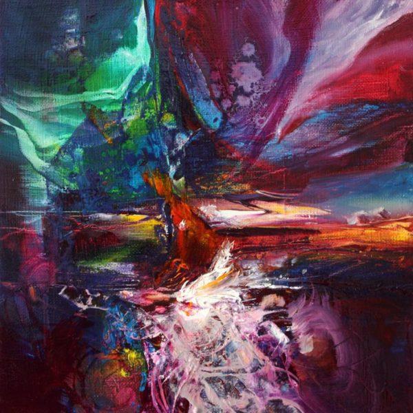 Vjekoslav Nemesh AGAINST THE ODS oil on canvas 23 X 23 cm