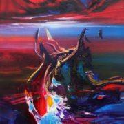 Vjekoslav Nemesh EMOTIONALY YOURS oil on canvas 64 X 34 cm