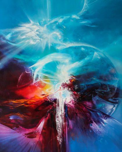 Vjekoslav Nemesh, EVE, oil on canvas, 111 X 91 cm