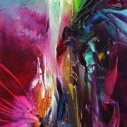 Vjekoslav Nemesh FROM THE HEART oil on canvas 81 X 20 cm