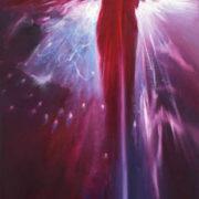 Vjekoslav Nemesh I LOVE YOU oil on canvas 122 X 30 cm
