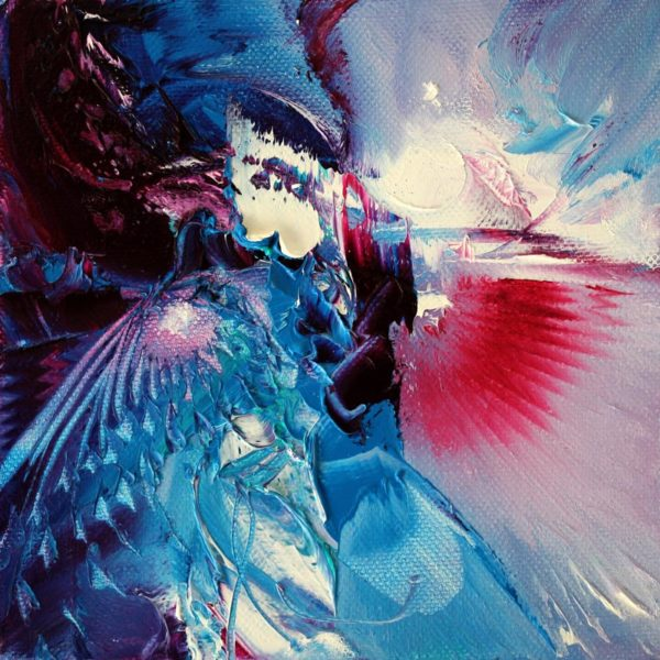 Vjekoslav Nemesh JOY AND ETERNITY oil on canvas 15 X 15 cm