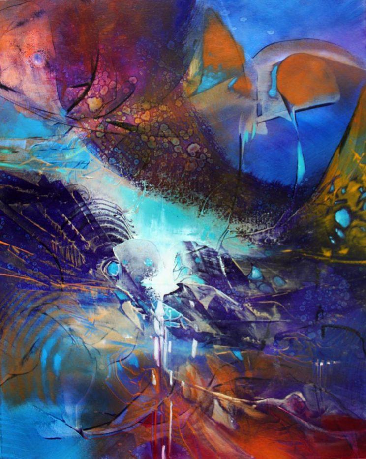 RAISING CONSCIOUSNESS, oil on canvas, 49.5 X 39 cm
