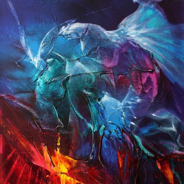 Vjekoslav Nemesh and Anthea Stayt ETHEREAL DRAGONS oil on canvas 25.5 X 20 cm