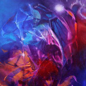 Vjekoslav Nemesh and Anthea Stayt  - WINGMAN oil on canvas 25.5 X 20 cm